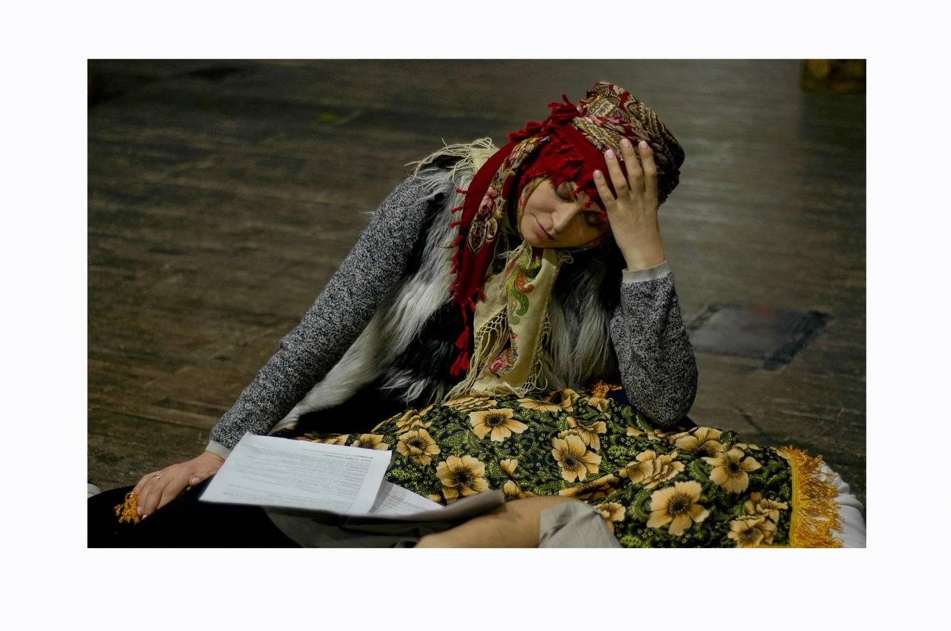 Репетиция в Украинском театре