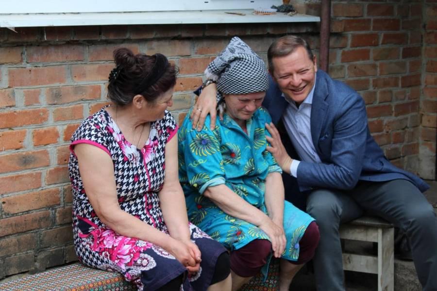 Олег Ляшко завітав до Колючої Любові Павлівни в Аджамку