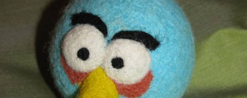 Майстер-клас для дітей  із сухого валяння «Angry Birds»