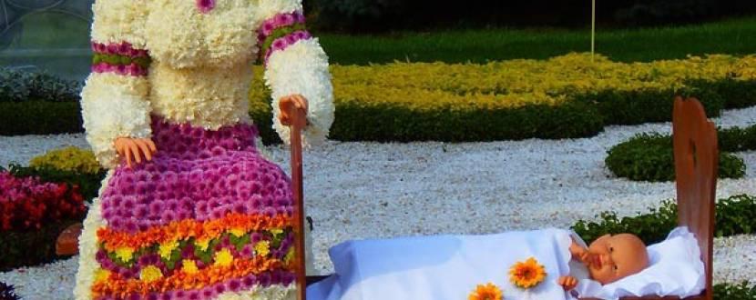 Виставка квітів на Співочому полі до Дня Незалежності