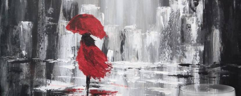 """Майстер-клас з малювання """"Прогулянка під дощем"""""""