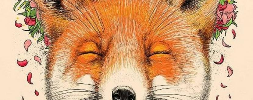 Рисуем красивую лису акрилом