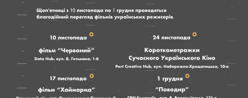"""25°С: благодійний перегляд фільму """"Червоний"""""""