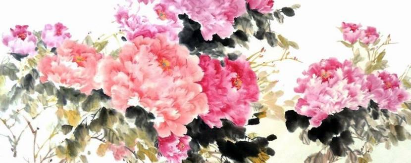 Пишна півонія - Майстер-клас з китайського живопису