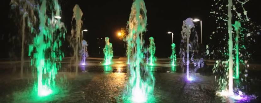 Відкриття фонтану на Михайлівській