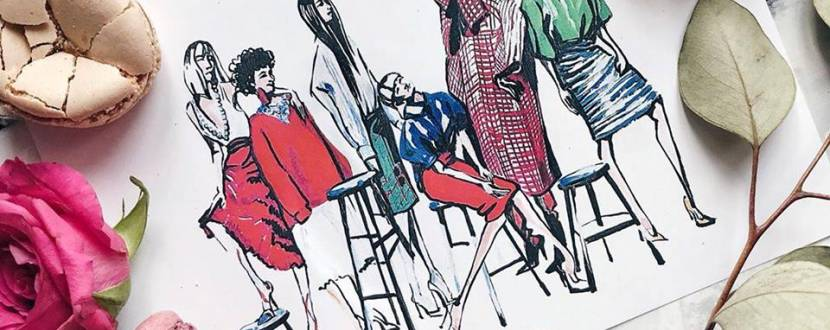 Курс Fashion иллюстрация