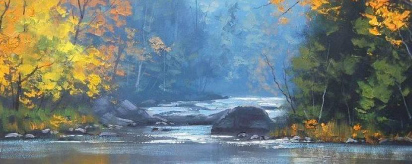 Мастер-класс «Осенний пейзаж мастихином»