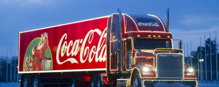 Coca-Cola #БудьСантою Новорічна вантажівка