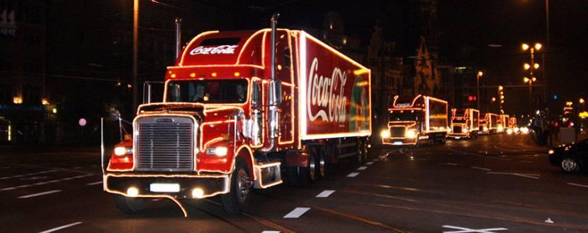 Новорічна вантажівка Coca-Cola у Вінниці