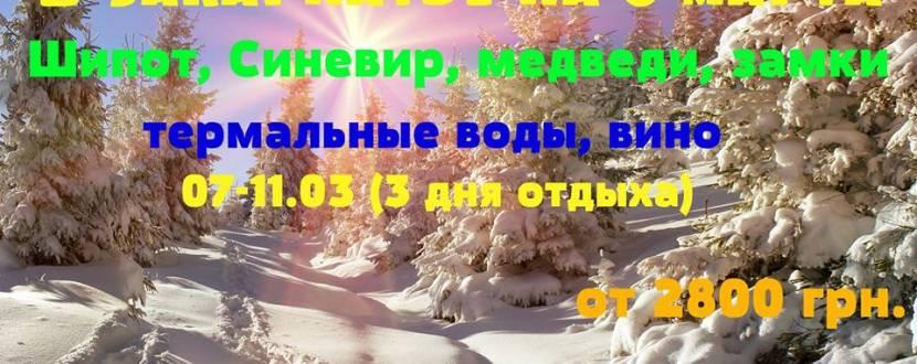 Тур «Закарпатье - 3 дня»
