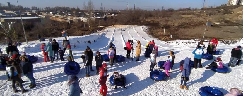 Зимовий відпочинок на сноутюбах у Савич парку