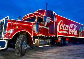 Новорічна вантажівка Coca-Cola у Тернополі