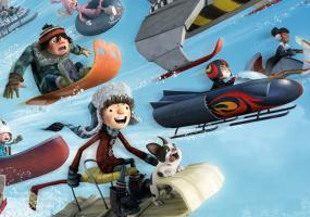 Анимация, семейный Снежные гонки