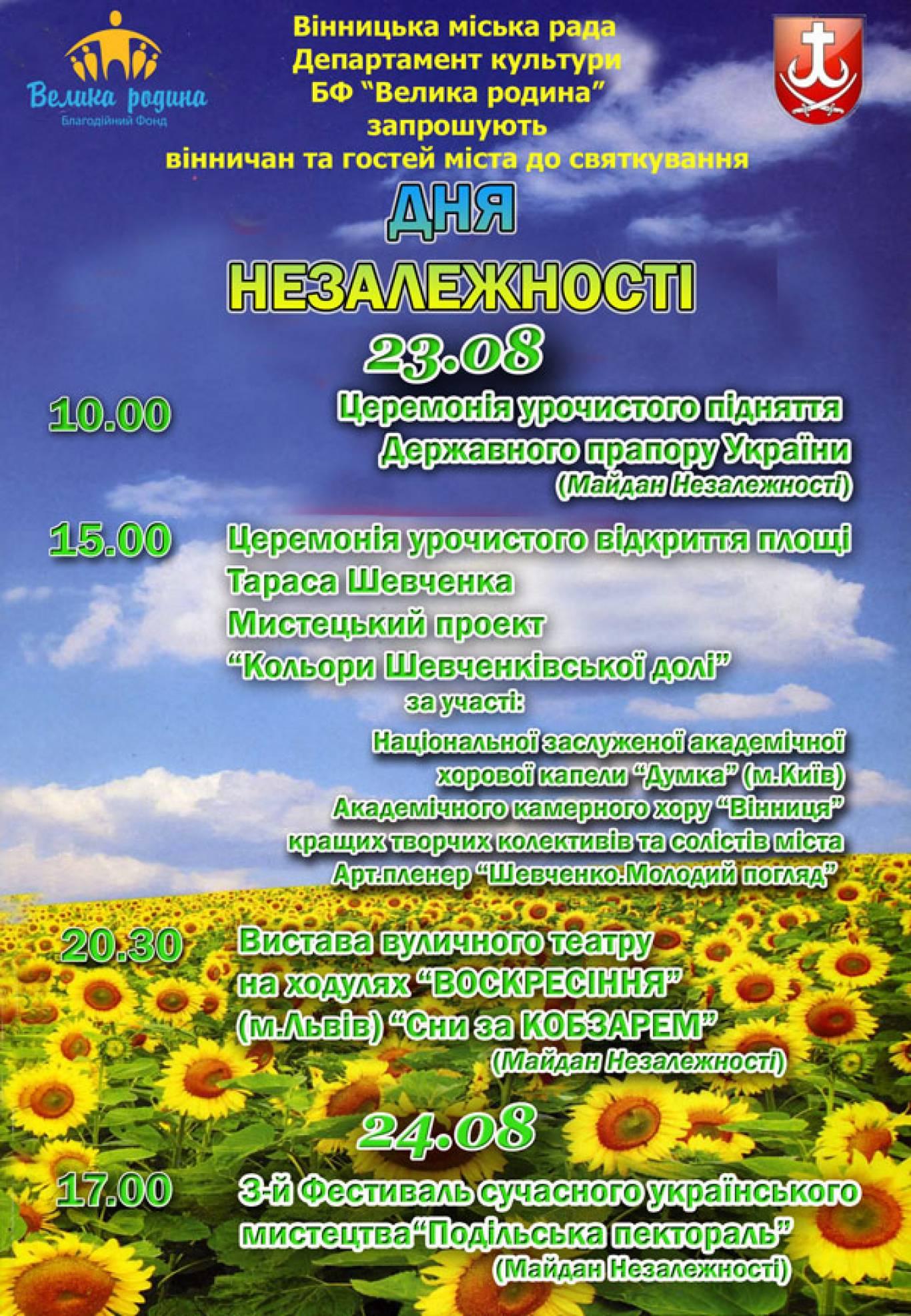 Святкування Дня Незалежності та Дня Прапору України