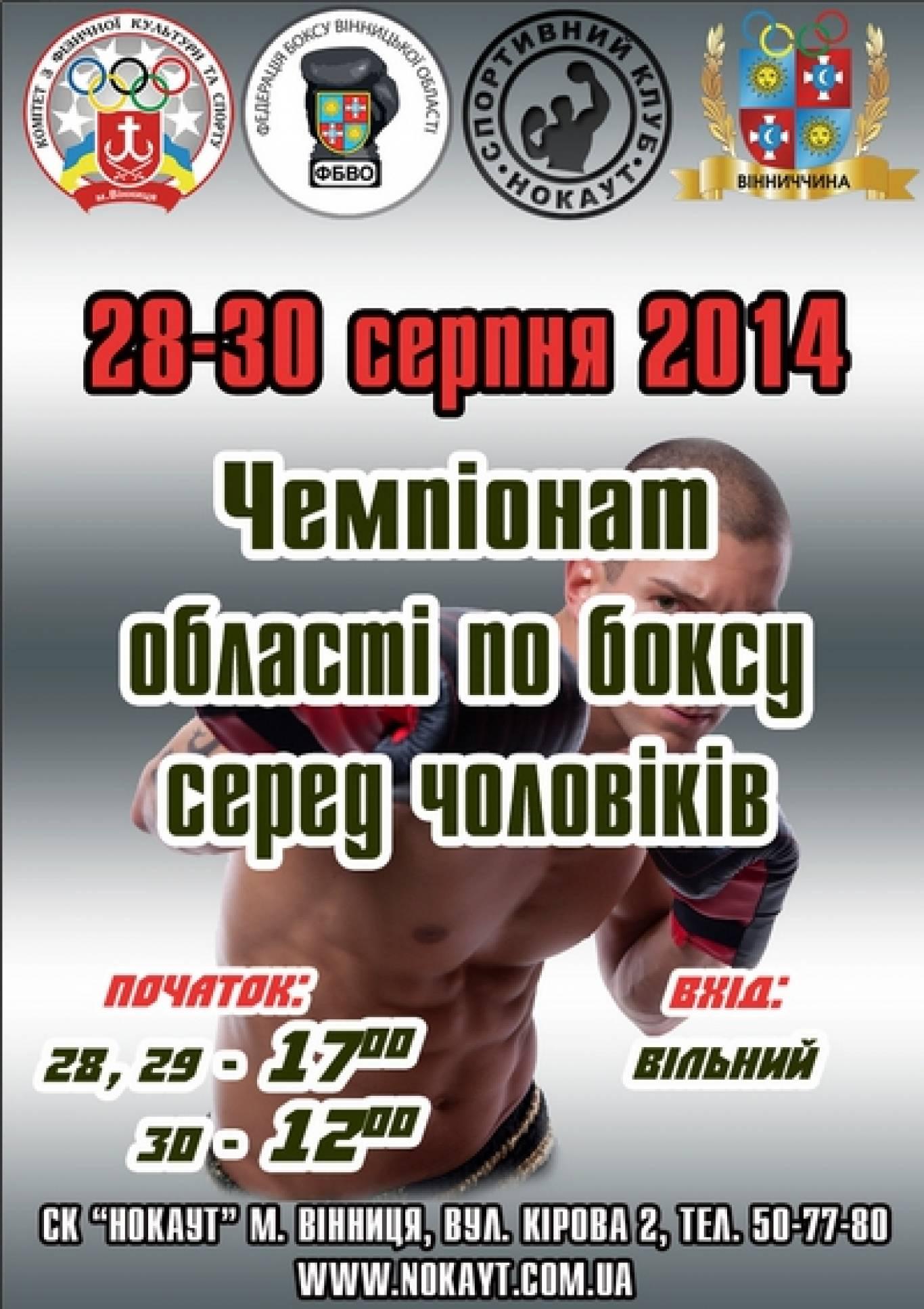 Чемпіонат області  з боксу серед чоловіків