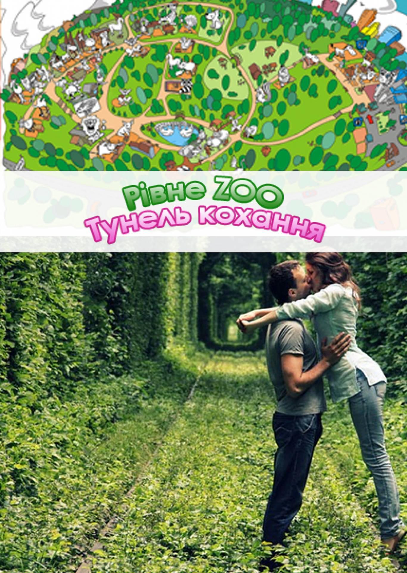 Тунель кохання + Рівненський зоопарк