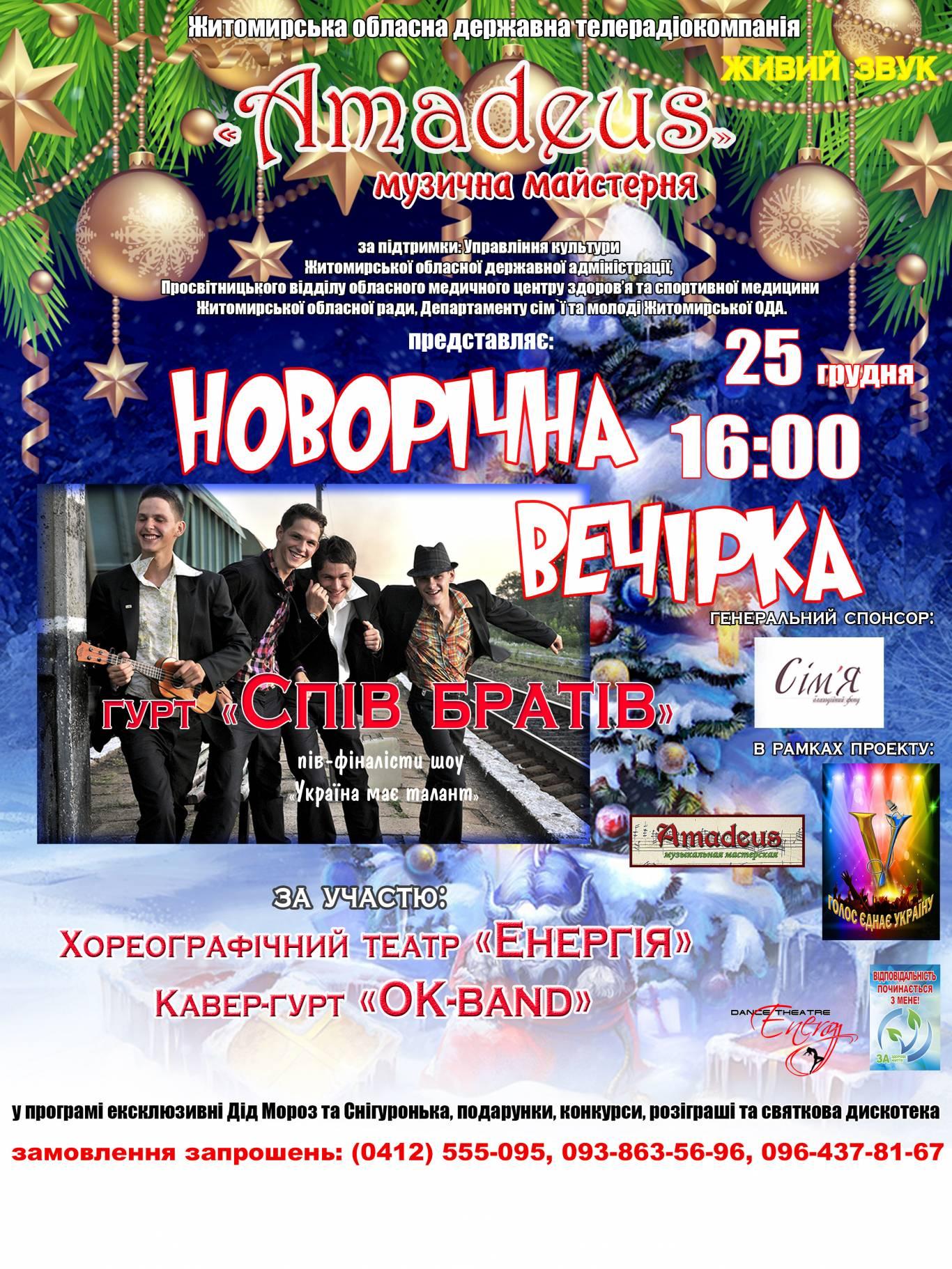 """Новорічна вечірка від музичної майстерні """"Amadeus"""""""