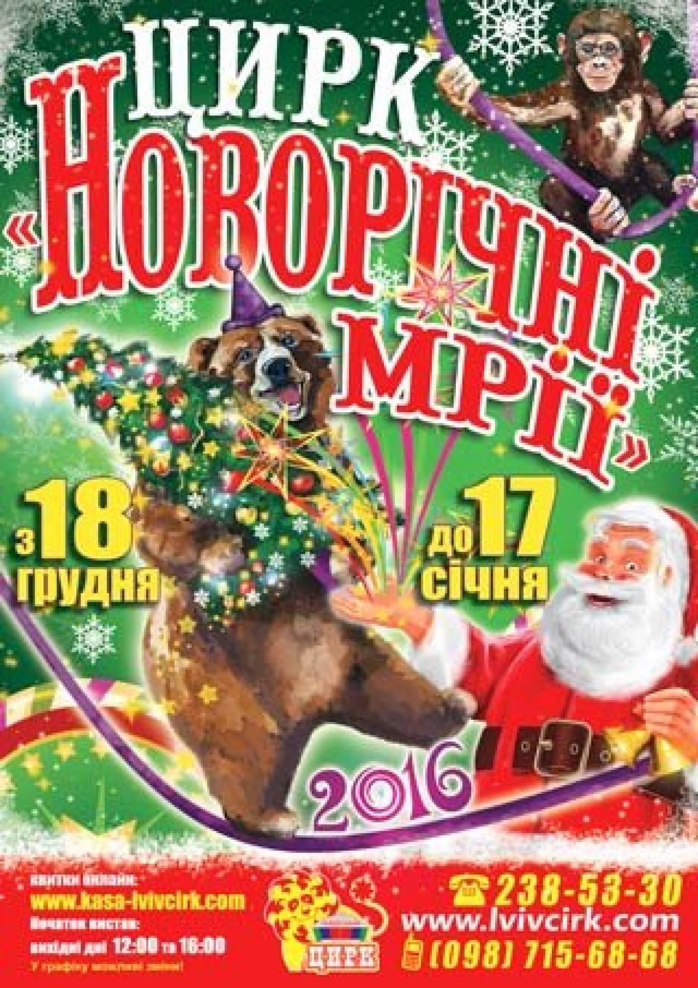 """Циркова програма """"Новорічні мрії"""""""
