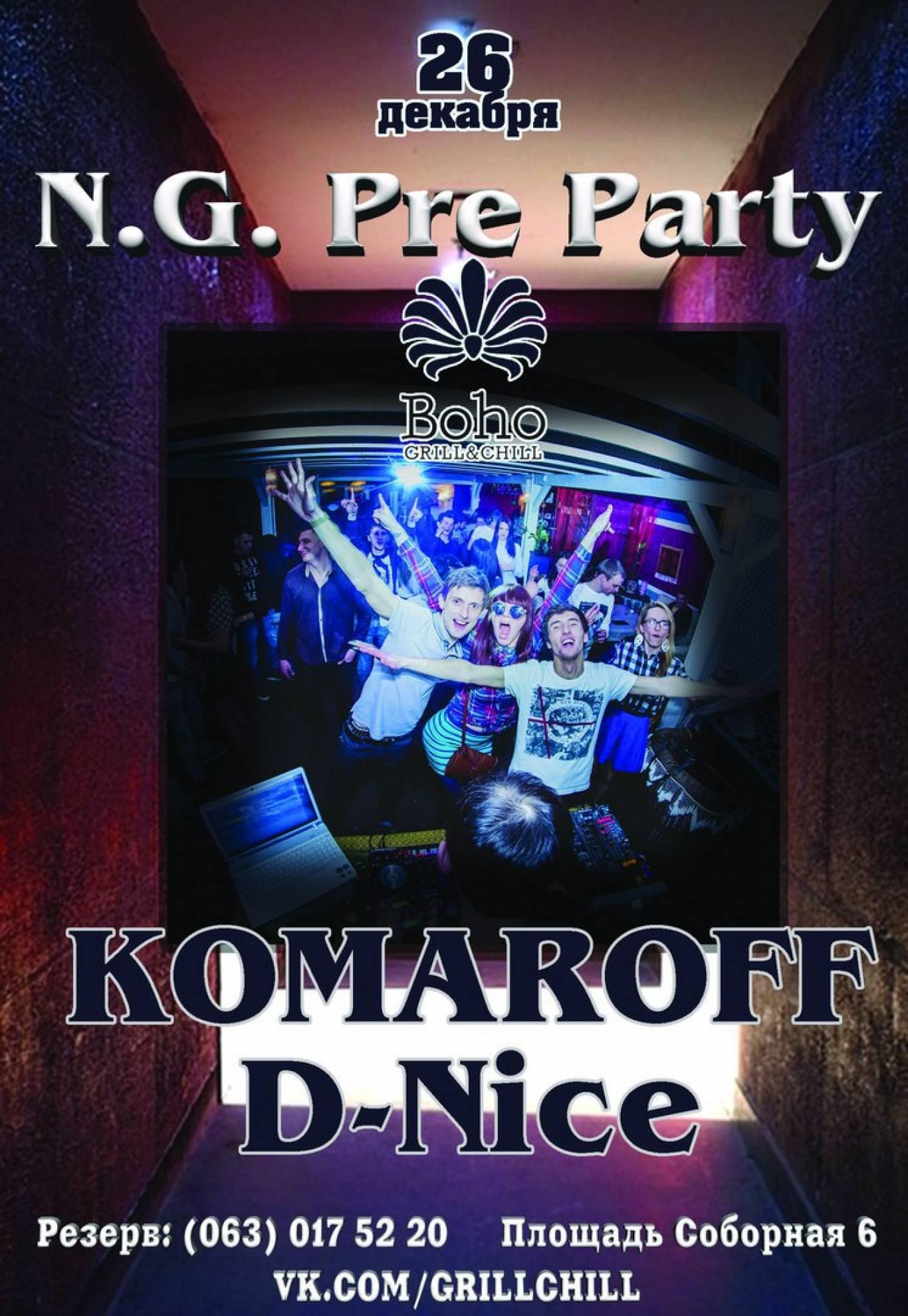 N.G Pre Party в Boho