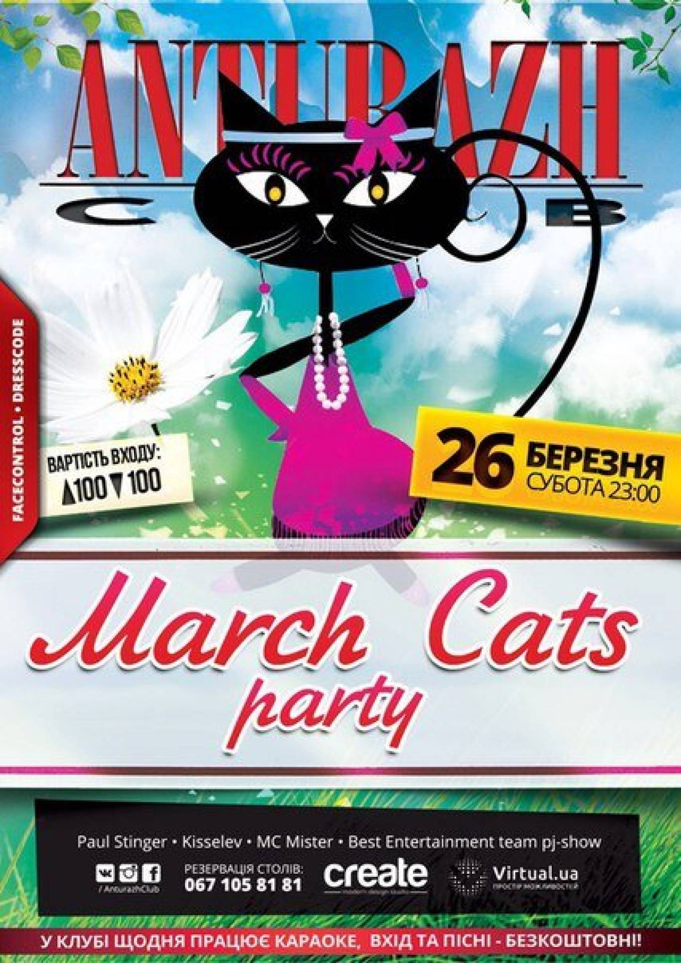 Вечірка March Cats party