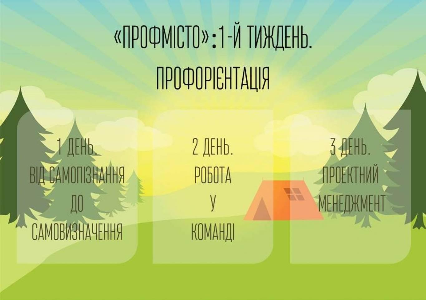 Літній профорієнтаційний табір «ПрофМісто» стартує  в Києві