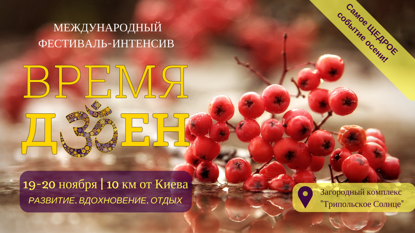 """Фестиваль """"Время Дзен"""", 19-20 ноября 2016"""