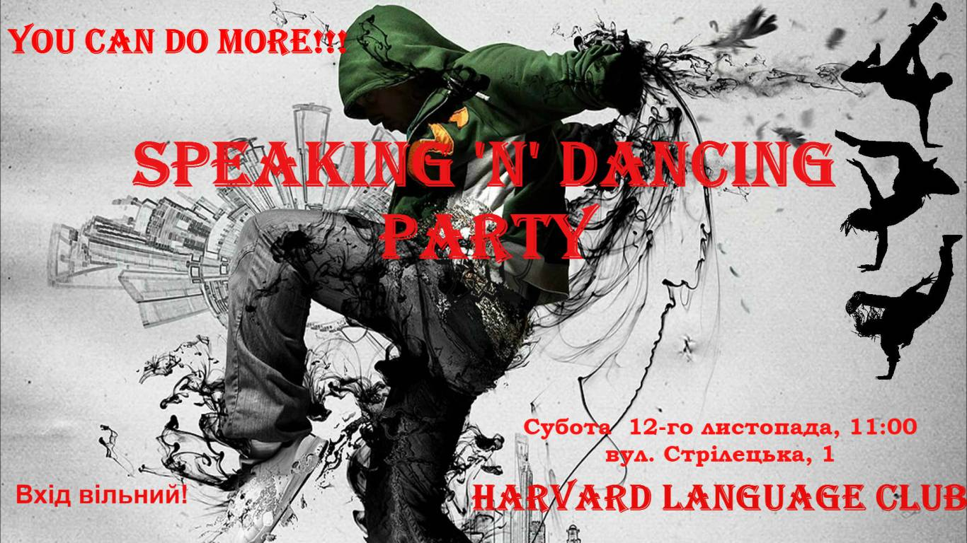 SPEAKING 'n' DANSING PARTY