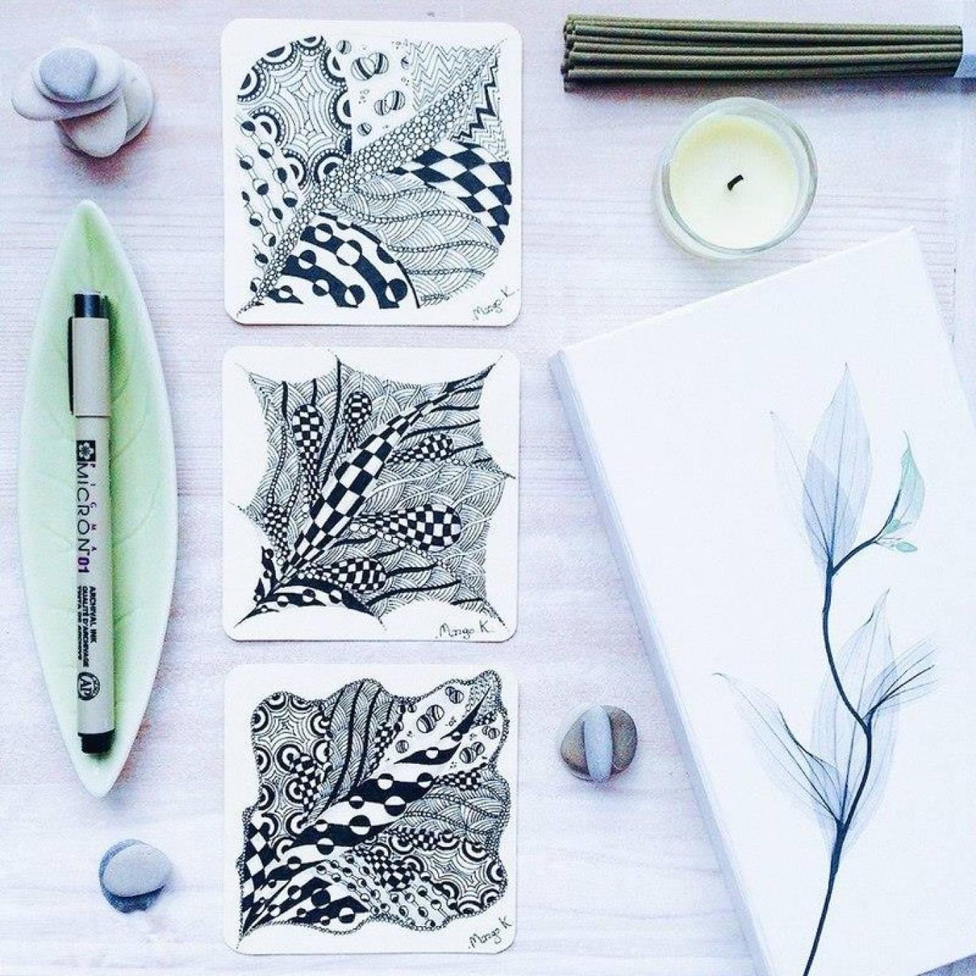 Майстер-клас з медитативного малювання у стилі зенарт