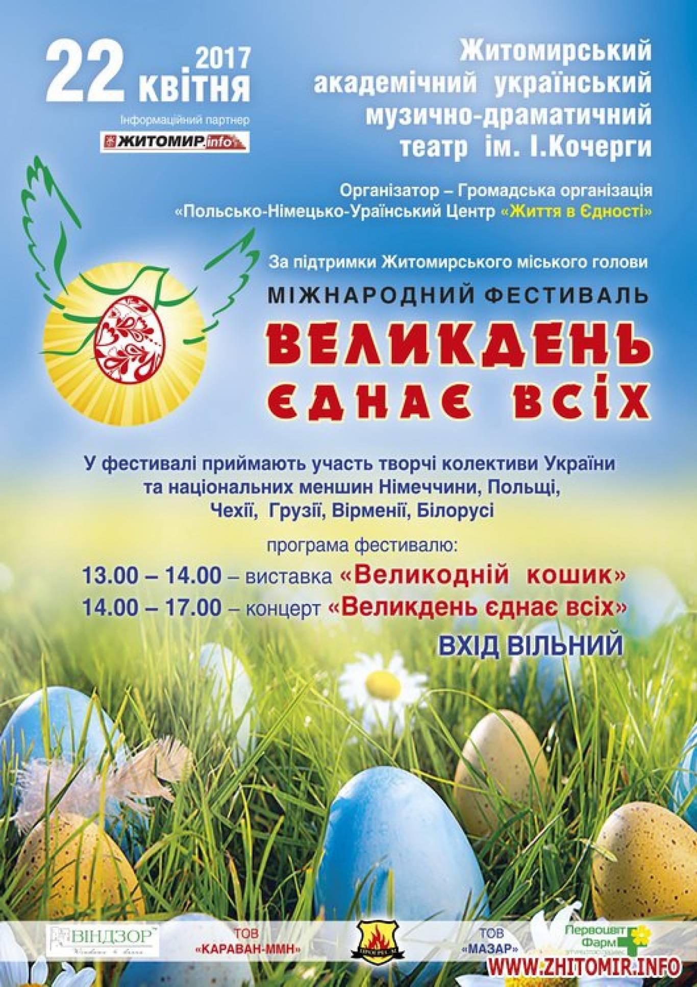 Міжнародний фестиваль «Великдень єднає всіх»