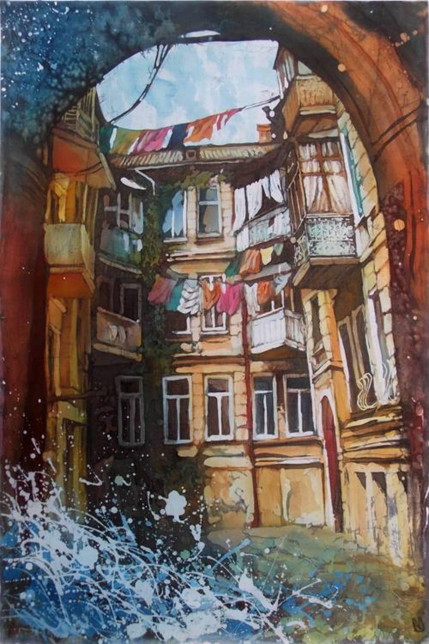 """Выставка батика Ульяны Балан """"4 дні в Одесі"""""""