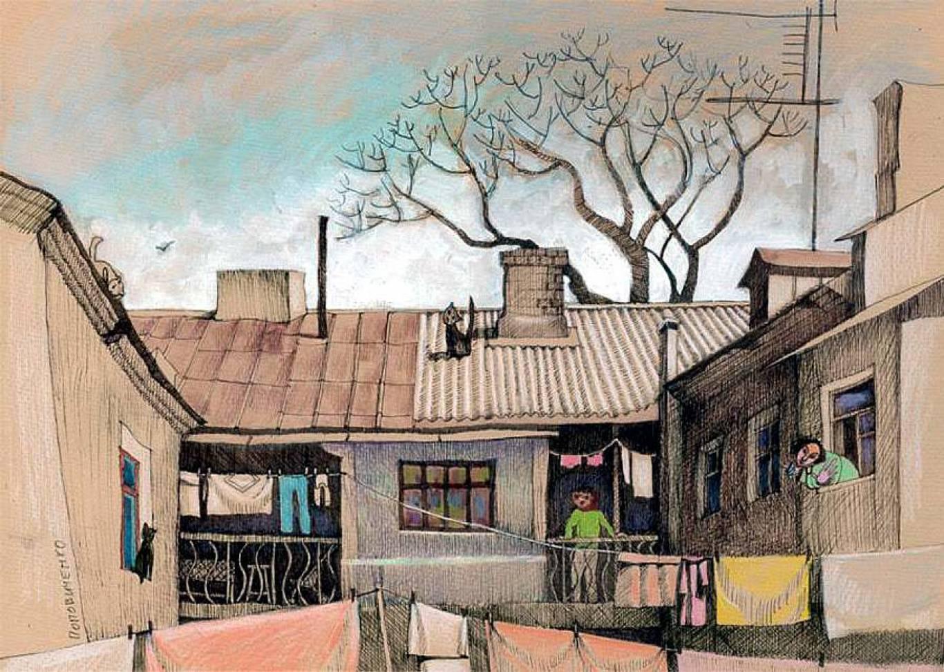 """Выставка """"Лица улиц. Я люблю большие дома и узкие улицы города"""""""
