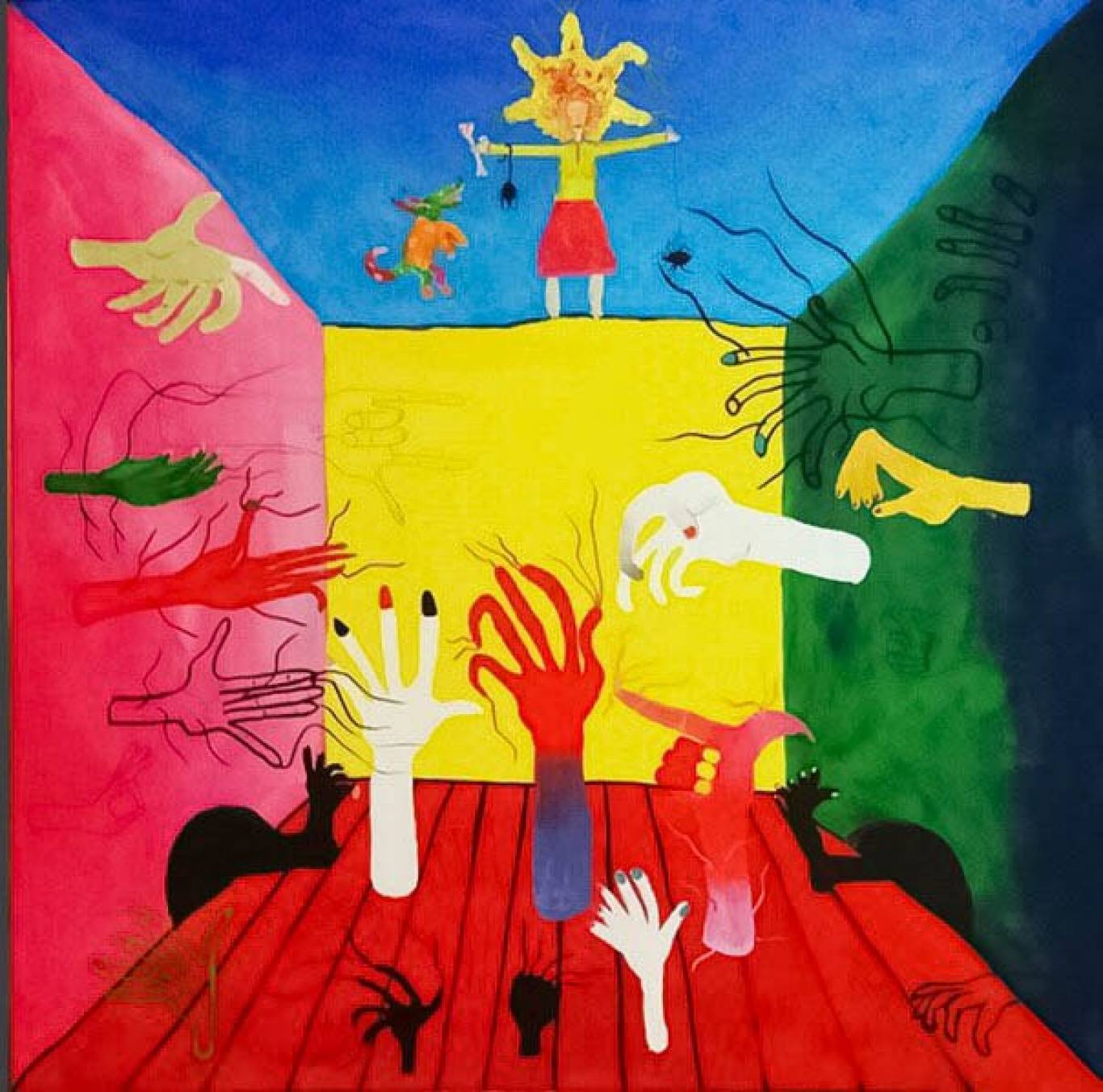Персональна виставка живопису та скульптури Дуже кольорові картини