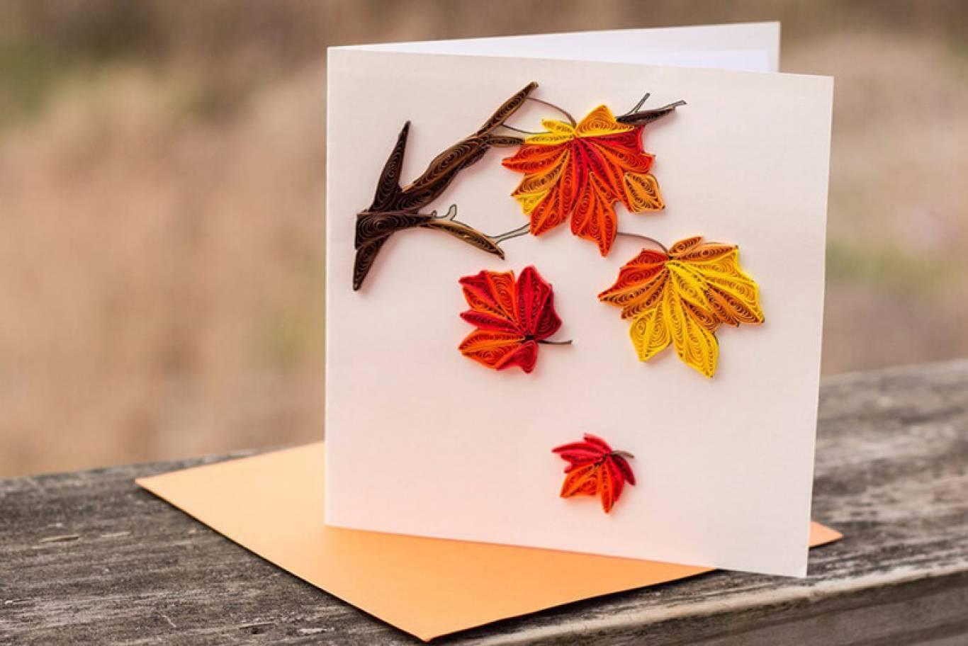 Открытки с листьями, картинки стрекозы апреля
