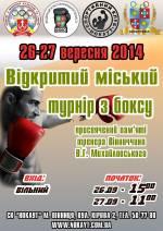 Відкритий міський турнір з боксу