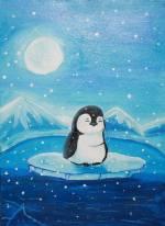 Зимові пейзажі від дитячої студії «Акварель»