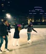 """Святкування Нового року в """"Олімпійському містечку"""" перед НСК """"Олімпійський"""""""