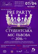 "Вечірка ""Pre party Студентська міс Львова 2016"""