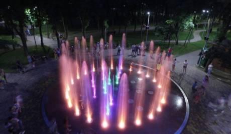 Світломузичний фонтан у Сирецькому парку